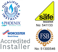 Phoenix Qualified Installer and Gas Safe Logo